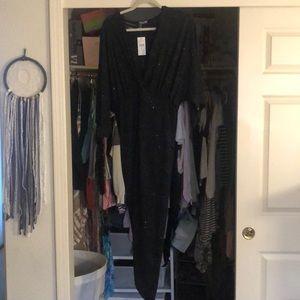 Black sparkle evening gown